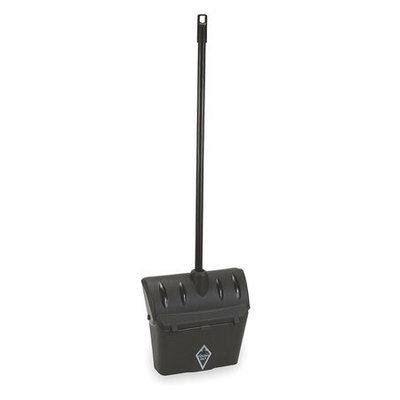 Tough Guy Long Handled Dust Pan (Plstc, 12-1/2 W, Black). Model: 1VAJ5
