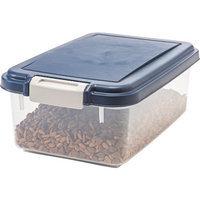 IRIS Airtight Pet Food Storage Container for Treats, 12 Quart, Navy