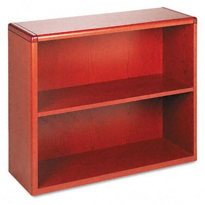 HON 10700 Series Bookcase, 2 Shelves, 36 W by 13-1/8 D by 29-5/8 H, Henna Cherry