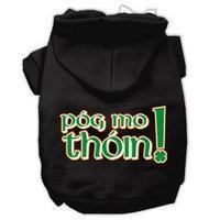 Mirage Pet Products Pog Mo Thoin Screen Print Pet Hoodies Black Size Sm (10)