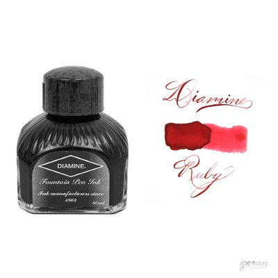 Diamine 80 ml Bottle Fountain Pen Ink, Ruby