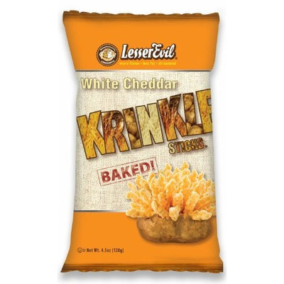 LesserEvil White Cheddar, 4.5-Ounce Bags (Pack of 12)