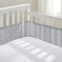 Breathablebaby Breathable Mesh Crib Liner, Gray Morocca