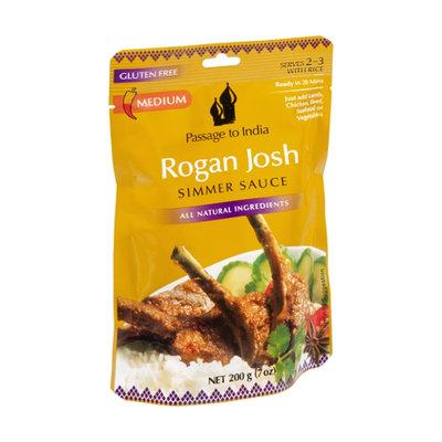 Passage to India Rogan Josh Gluten Free Medium  Simmer Sauce