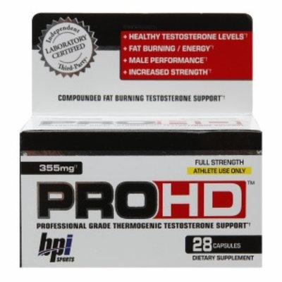 BPI PRO HD Professional Grade Thermogenic Testosterone Support, 28 ea