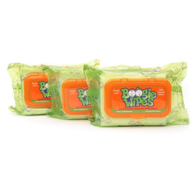 Boogie Wipes Gentle Saline Wipes for Stuffy Noses
