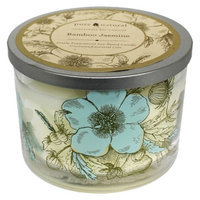 Pacific Trade Pure and Natural Bamboo Container Candle IVORY