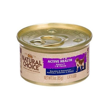 Natural Choice Cat Natural Choice Active Health Adult Salmon and Oceanfish Formula Chunks in Sauce Cat Food Cans, 3-Ounce