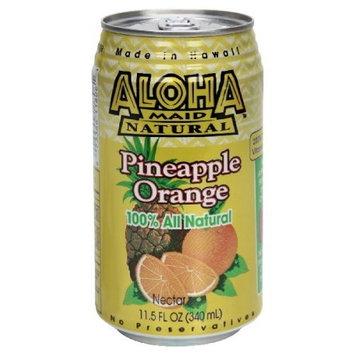 Aloha Maid Pineapple Orange Drink, 12 - 11.5-Ounce Cans
