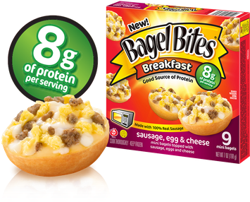 Bagel Bites Breakfast Sausage, Egg & Cheese