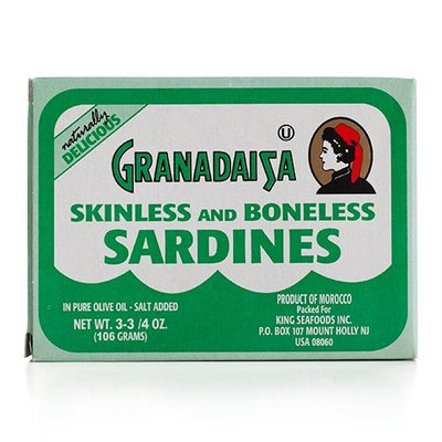 Granadaisa - Skinless & Boneless Sardines in Pure Olive Oil, (3)- 3.75 oz Tins