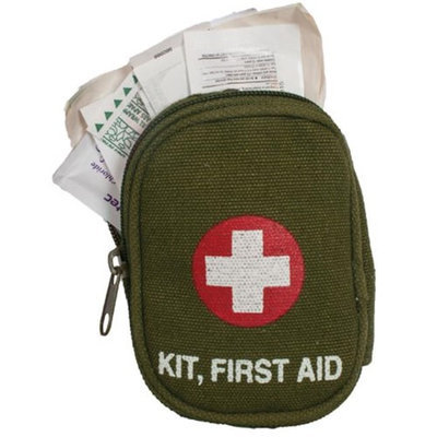 Fox Outdoor 57-80 Soldier Individual First Aid Kit - Olive Drab