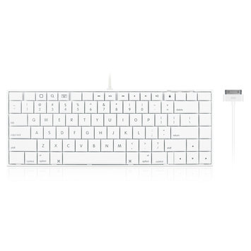 Macally IKEY30X 30pin Wired Keyboard Accs With Stand For Ipad
