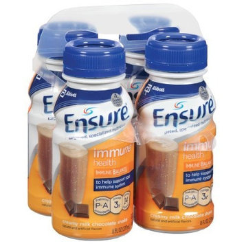 Ensure Immune Health Chocolate Liquid, 8-Ounce (Pack of 16)