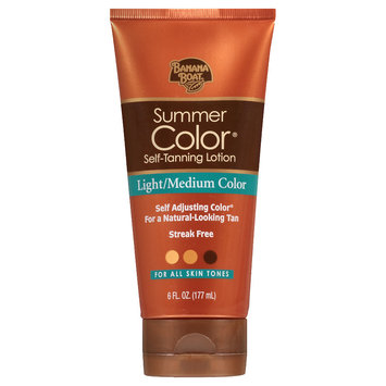 Banana Boat Sunless Summer Color Self Tanning Lotion Light To Medium Color