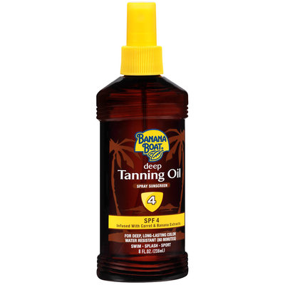 Banana Boat Spray Sunscreen Deep Tanning Oil SPF 4
