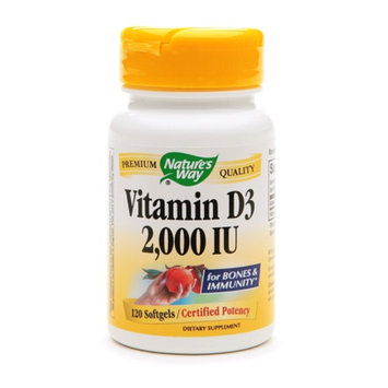 Nature's Way Vitamin D3 2000 IU