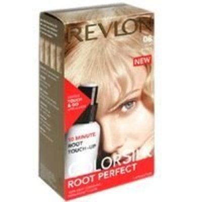 Revlon ColorSilk Root Perfect 10 Minute Root Touch-Up HairColor, Light Blonde # 08 - Kit