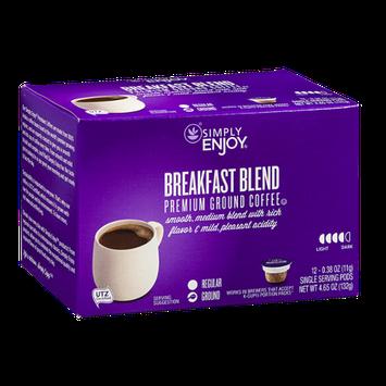 Simply Enjoy Premium Ground Coffee Pods Breakfast Blend - 12 CT