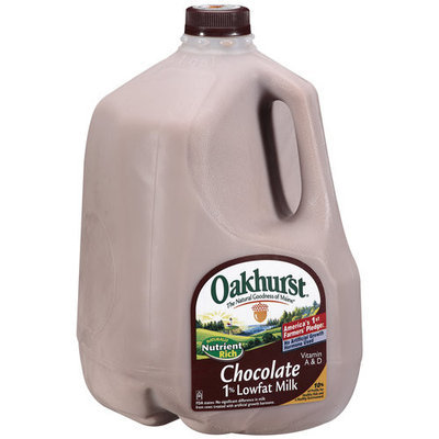 Oakhurst 1% Lowfat Chocolate Milk, 1 gal