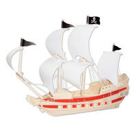 Puzzled Pirate Ship Natural Wood Puzzle Ages 9+, 1 ea