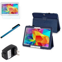 Insten INSTEN Navy Blue Leather Stand Case+Protector Accessory For Samsung Galaxy Tab 4 10.1 T530