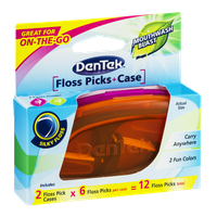 DenTek Floss Picks + Case - 12 CT