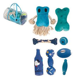 Pet Life 8-Piece Duffle Pet Dog Toy Set