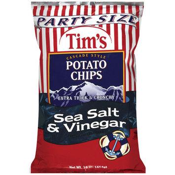 Tim's Extra Thick & Crunchy Sea Salt & Vinegar Cascade Style Potato Chips, 16 oz