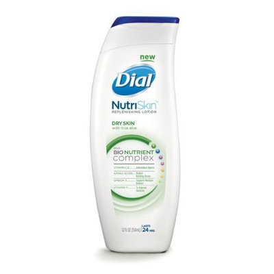 Dial Nutriskin Replenishing Lotion Dry Skin, 12-Ounce (Pack of 2)