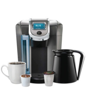 Keurig - 2.0 K550 4-cup Coffeemaker - Black/dark Gray