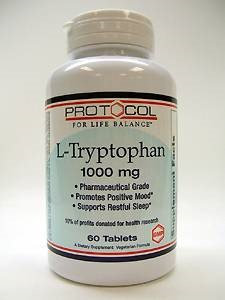Protocol For Life Now Foods Protocol L Tryptophan 1000mg 60t