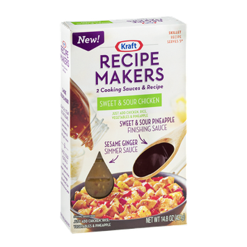 Kraft Recipe Makers Cooking Sauces Skillet Recipe Sweet & Sour Chicken