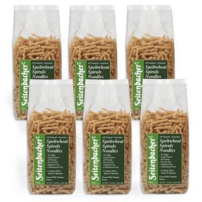 Seitenbacher Spelt Spiral Pasta, 17.6-Ounce Bags (Pack of 6)