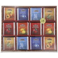 Bentley's Finest Teas Wood Grain Tea Chest, Variety Pack of 6 Flavors, Tea Bags, 120 Count Box