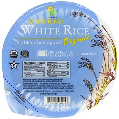 GoGo Rice White Rice Bowl, Organic, Microwaveable, 7.4 Ounce Bowls (Pack of 12)