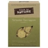 Back To Nature Sesame & Tarragon Crackers ( 6x6.5 OZ)