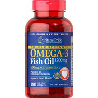 Puritan's Pride Double Strength Omega-3 Fish Oil 1200 mg-180 Softgels