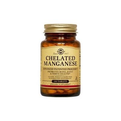 Solgar - Chelated Manganese 8 mg. - 100 Tablets