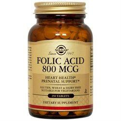 Solgar - Folic Acid 800 mcg. - 250 Tablets
