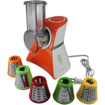 Cooks Club USA VC02SOR Salad Maker Mini Food Processor and Produce Shooter Spray Orange