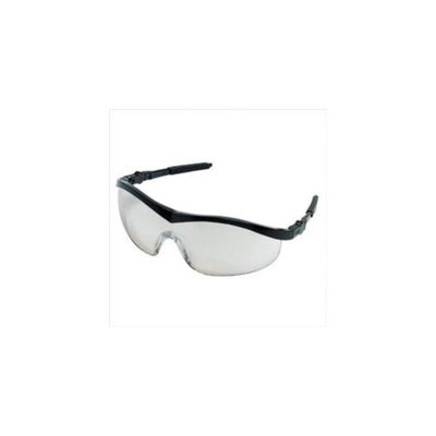 Crews 135-ST119 Storm Black Frame In-Outclr Mir Lens Safety Gls