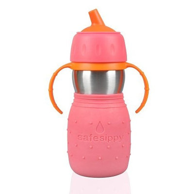 Kid Basix Safe Sippy Cup, The Original Stainless Steel Sippy Cup, Pink, 11oz