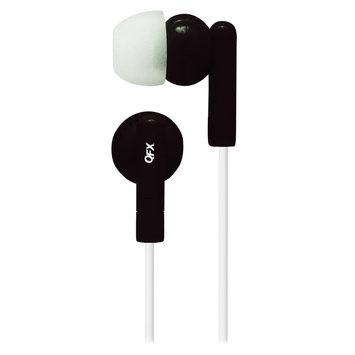 Coby Quantum FX Noise Isolating Earbuds Black