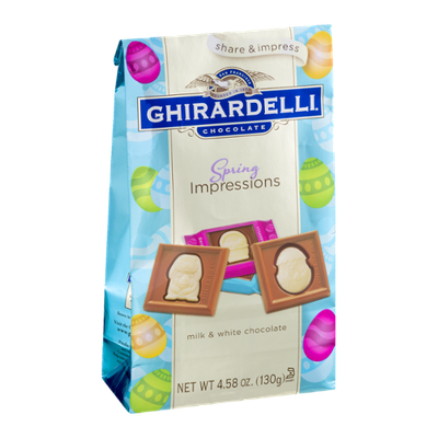 Ghirardelli Chocolate Spring Impressions Milk & White Chocolate