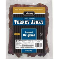 Shelton's Turkey Jerky, Peppered Original, 7-Ounce Package (Pack of 2)