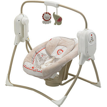 FISHER PRICE Fisher-Price SpaceSaver Cradle & Swing, Tan