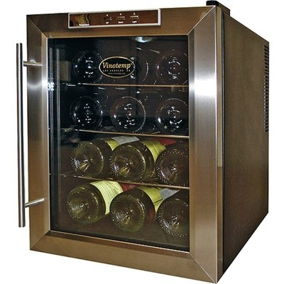 Vinotemp 12 Bottle Cabinet with Stainless Steel Trim