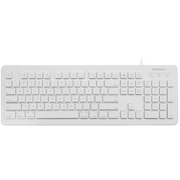 macally MKEYX White Wired Keyboards