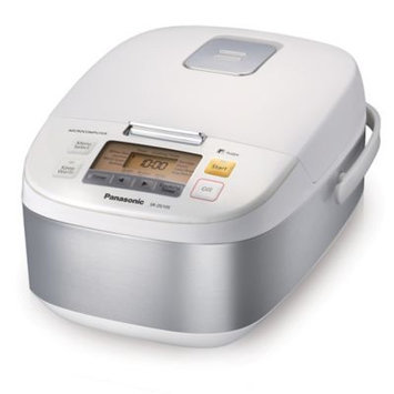 Panasonic 5 Cup (uncooked) Microcomputer Controlled Rice Cooker - Stainless Steel/White